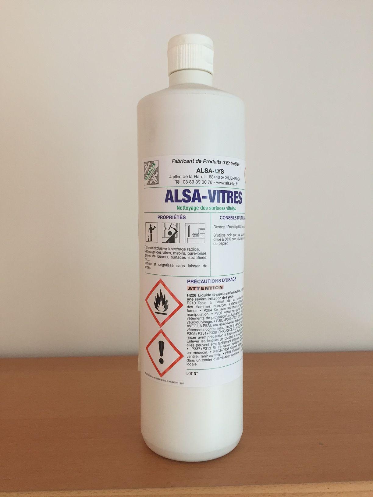 Nettoyant vitres professionnel sans laisser de traces 1 litre for Nettoyage vitres sans traces