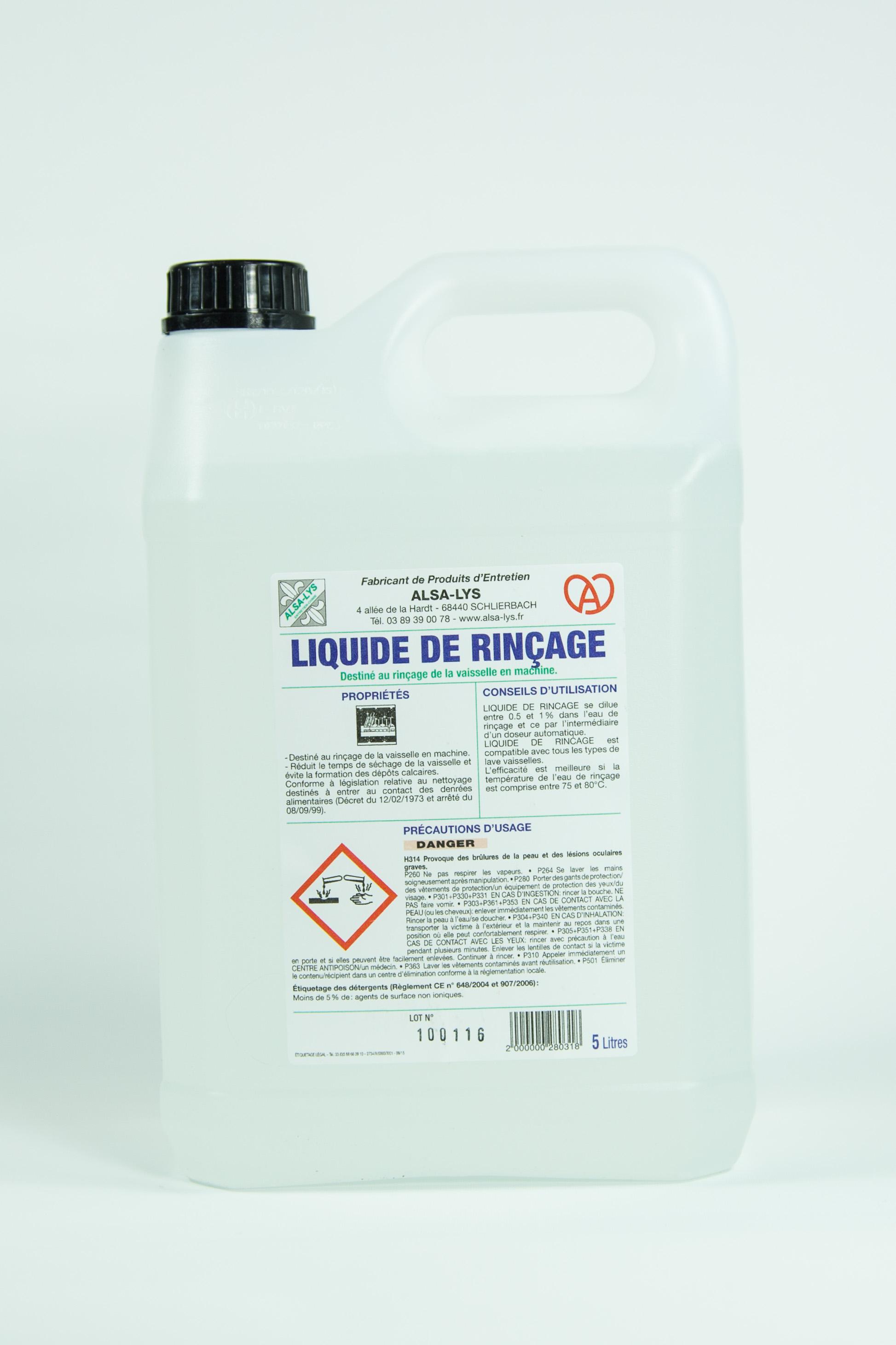 Entretien Du Lave Vaisselle produit de rinçage professionnel pour machine : deter lys rinçage, 5 litres